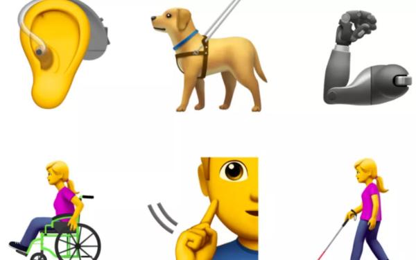 Inklusive Emojis kommen